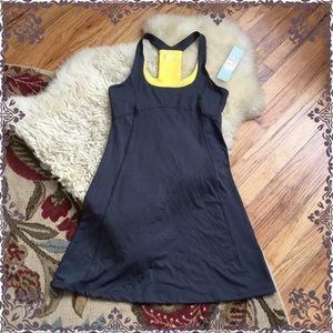 NWT Lola Sport Grey and Yellow Tank Dress